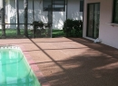 patio concrete sealed by Microguard